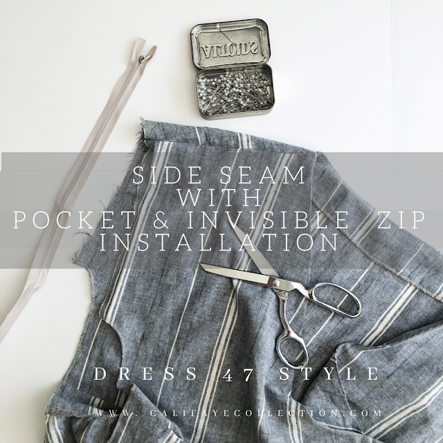 Side Seam with Zipper Tutorial