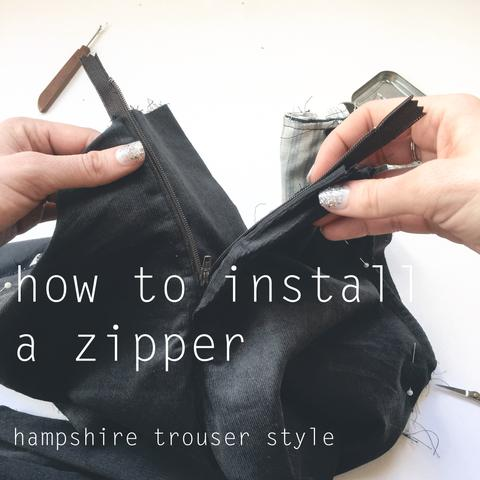 How to Install a Zipper