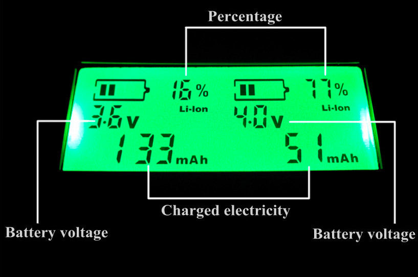 battery charger LED screen