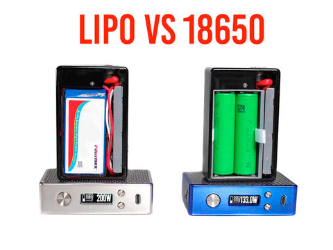 LIPO vs 18650 batteries