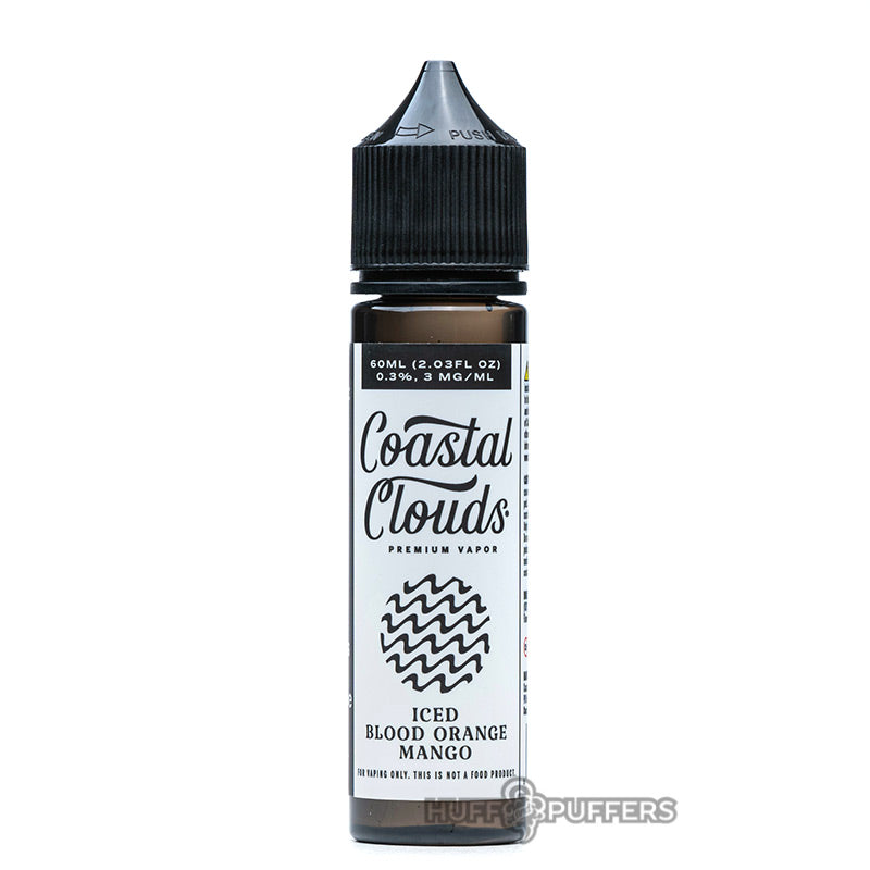 iced blood orange mango 60ml bottle by coastal clouds