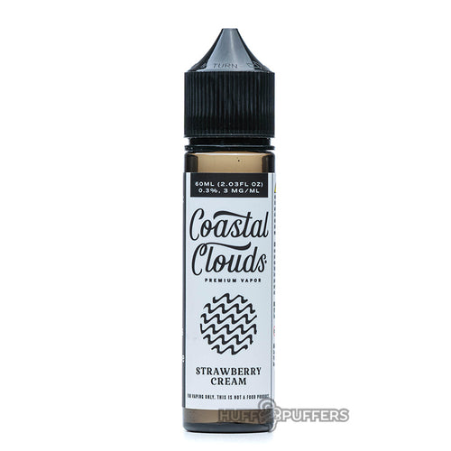 strawberry cream 60ml bottle by coastal clouds