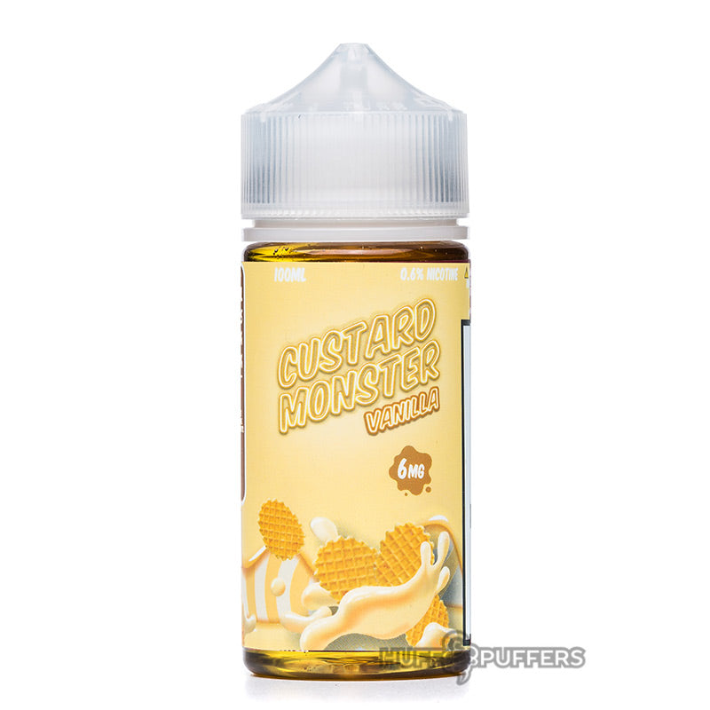 custard monster vanilla e-liquid 100ml bottle