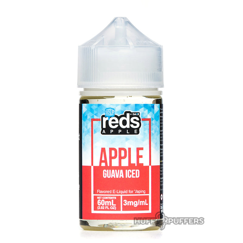 reds apple guava iced 60ml e-juice bottle by 7 daze