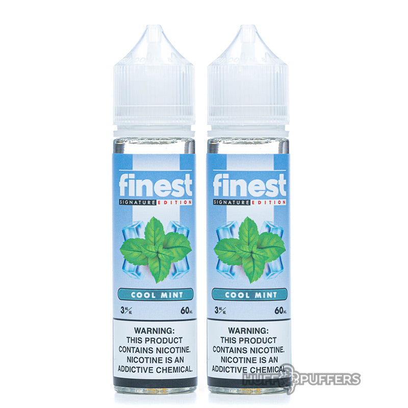 2 60ml bottles of cool mint by finest signature edition