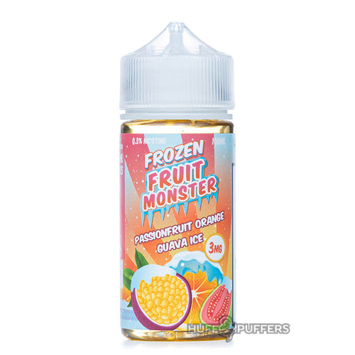 passionfruit orange guava ice 100ml e-juice bottle by frozen fruit monster