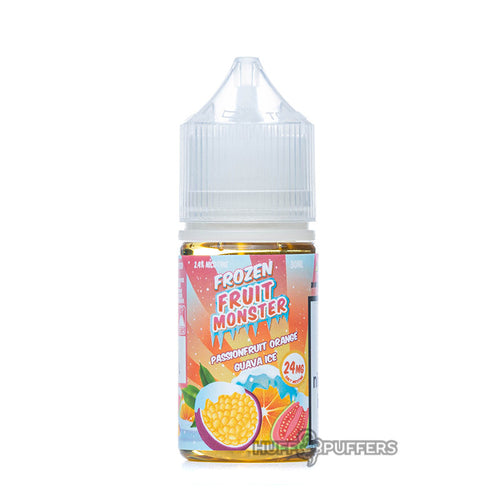 passionfruit orange guava ice 30ml e-juice bottle by frozen fruit monster salt