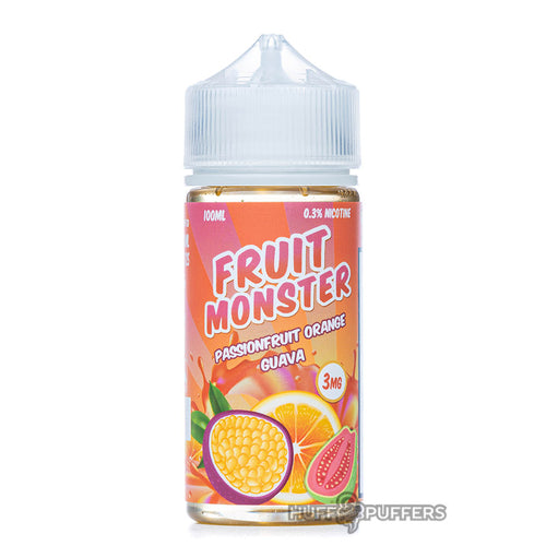 passionfruit orange guava 100ml e-juice bottle by fruit monster