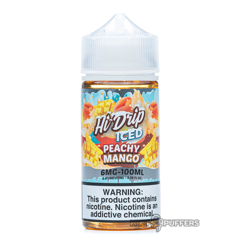 iced peachy mango e-liquid 100ml bottle by hi-drip