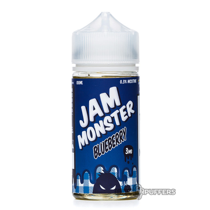 jam monster blueberry 100ml e-juice bottle