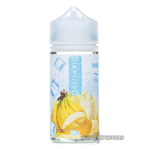 skwezed banana ice 100ml e-juice bottle