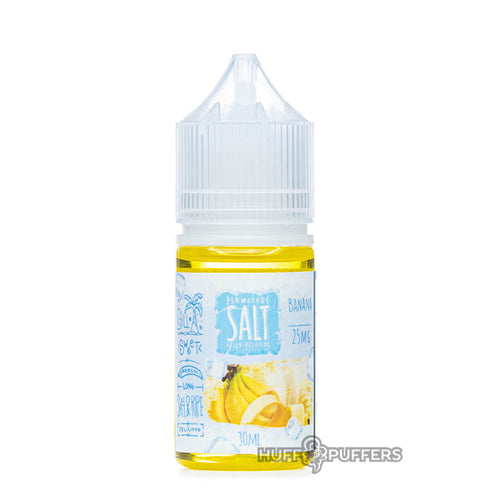 skwezed salt banana ice 30ml e-juice bottle