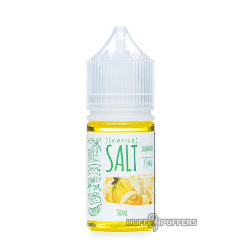 skwezed salt banana 30ml e-juice bottle