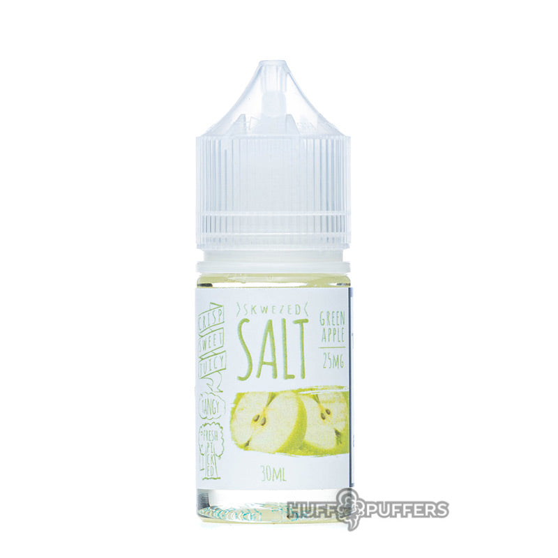 skwezed salt green apple 30ml e-juice bottle