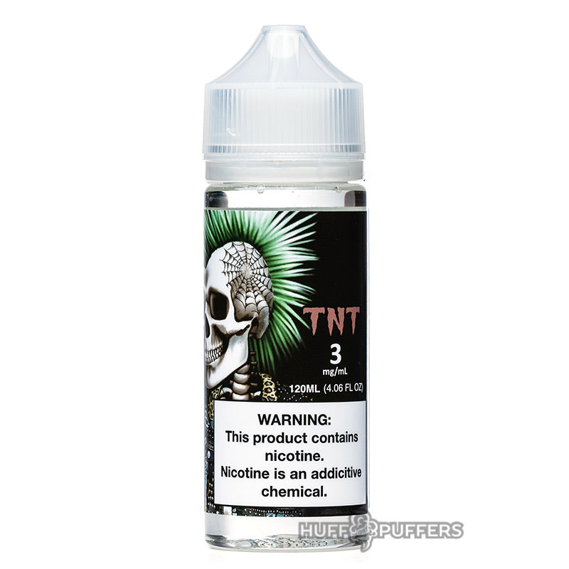 time bomb vapors tnt 120ml e-juice bottle