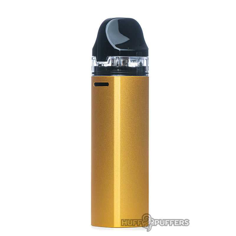 uwell aeglos pod kit in gold back view