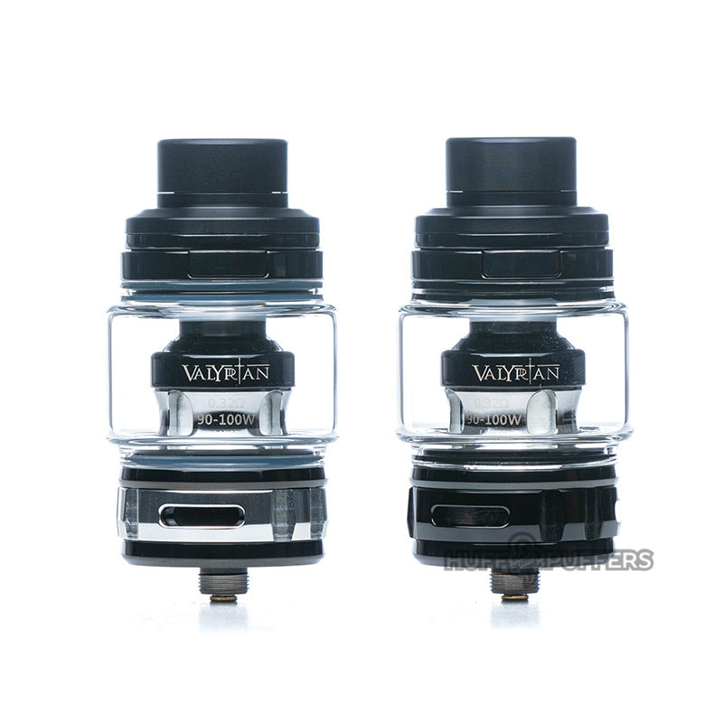 uwell valyrian 2 sub ohm tank in black and silver and full black