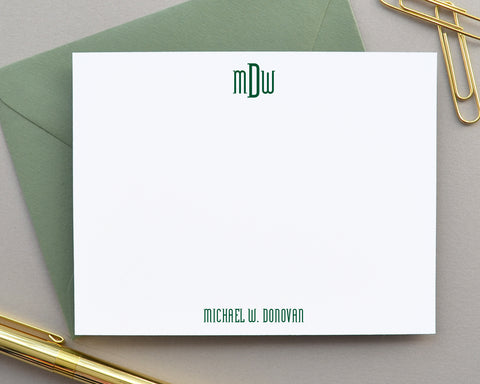 Monogrammed Note Cards with Envelopes