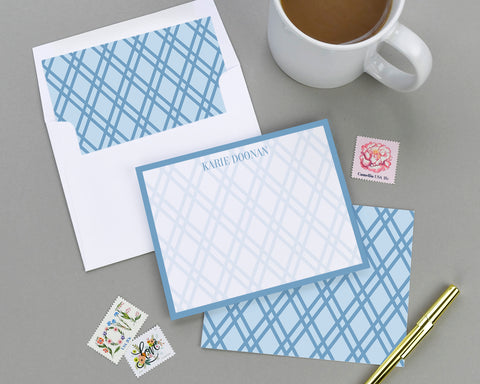 Geometric Patterned Note Card Set