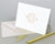 Brigette Monogrammed Folded Note Cards