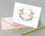 Champagne & Blush Monogrammed Crest Folded Note Cards with Envelopes