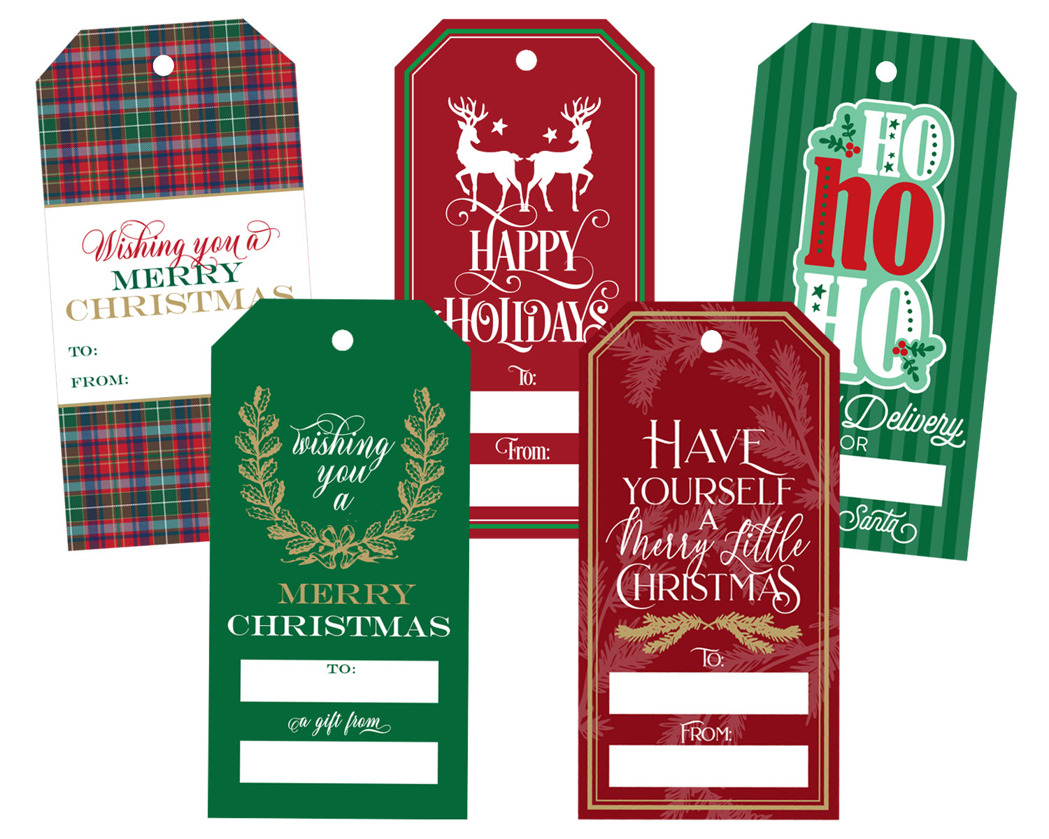 Christmas Gift Tags Variety Pack 1