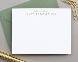 From the Desk of Personalized Note Cards with Envelopes