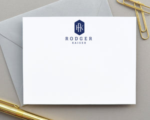 Classic Monogram Crest Stationery for Men