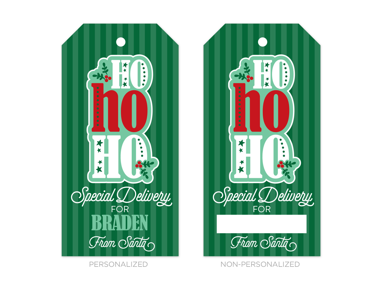 Personalized from Santa HoHoHo Gift Tags
