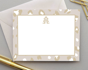 Personalized Leopard Animal Print Stationery