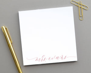 Modern Calligraphy Script Notepad