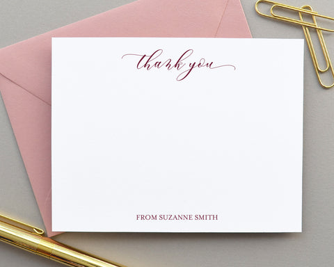 Personalized Thank You Note Cards