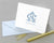 Elegant Monogrammed Folded Note Cards