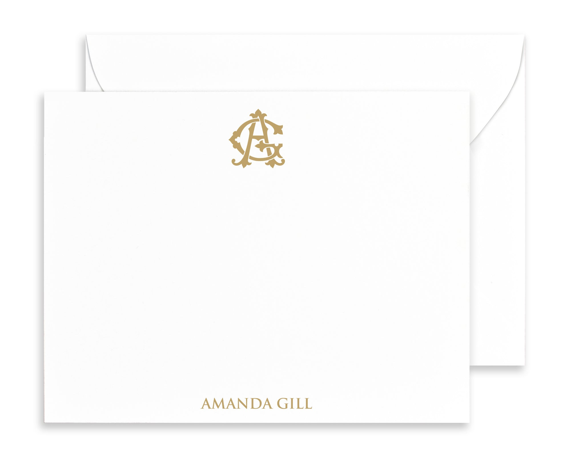 Personalized Monogram Stationery, Initial Note Card Sets