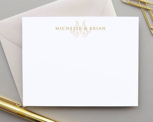 Monogrammed Couples Stationery & Initial Note Cards
