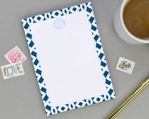 Trellis Patterned Personalized Notepad