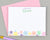 Girls Personalized Rainbow Star Stationery for Kids
