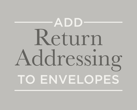 Return Addressing for Notecard Envelopes