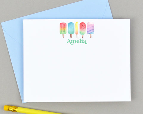 Personalized Popsicle Stationery for Kids