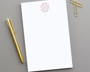 Monogrammed Notepad, Customized Notepad Personalized Gifts