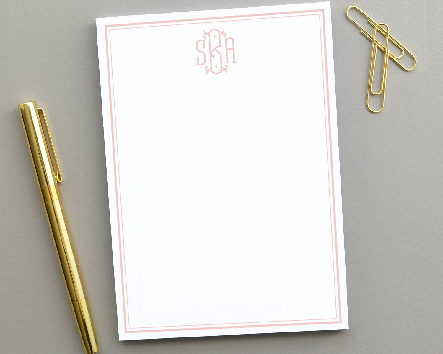 Monogram Notepad, Customized Notepad Personalized Gifts