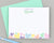 Girls Personalized Rainbow Heart Stationery for Kids