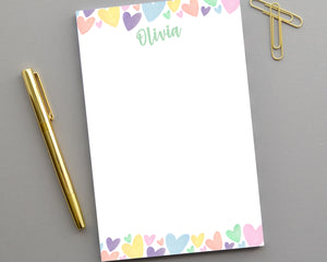 Personalized Kids Heart Notepad