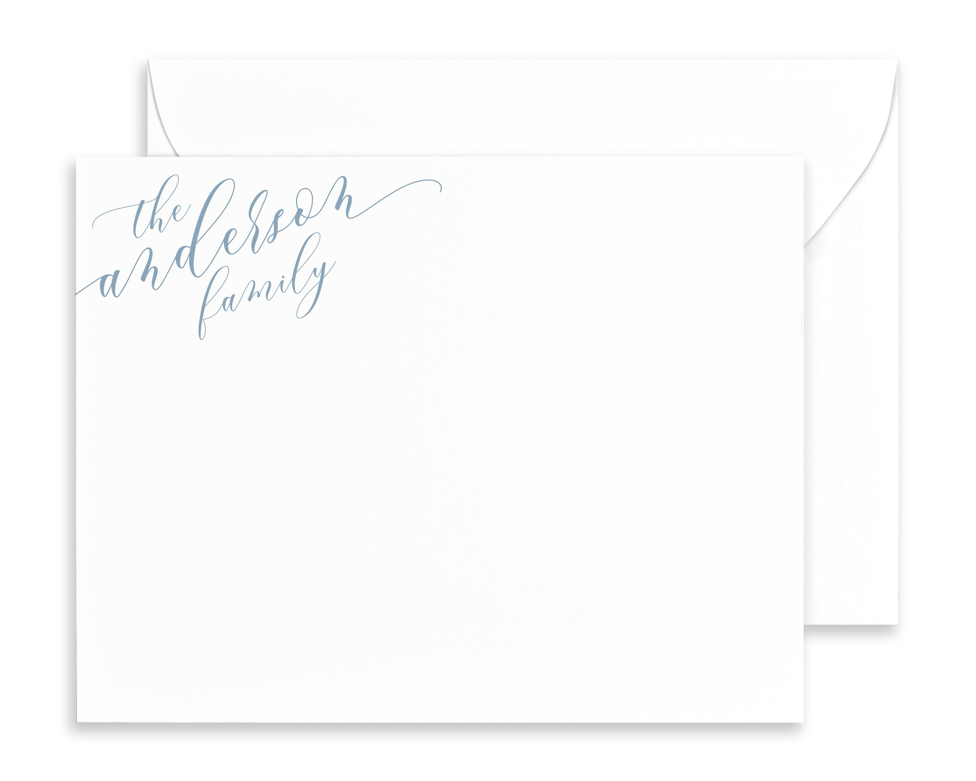 Modern Calligraphy Family Note Cards with Envelopes