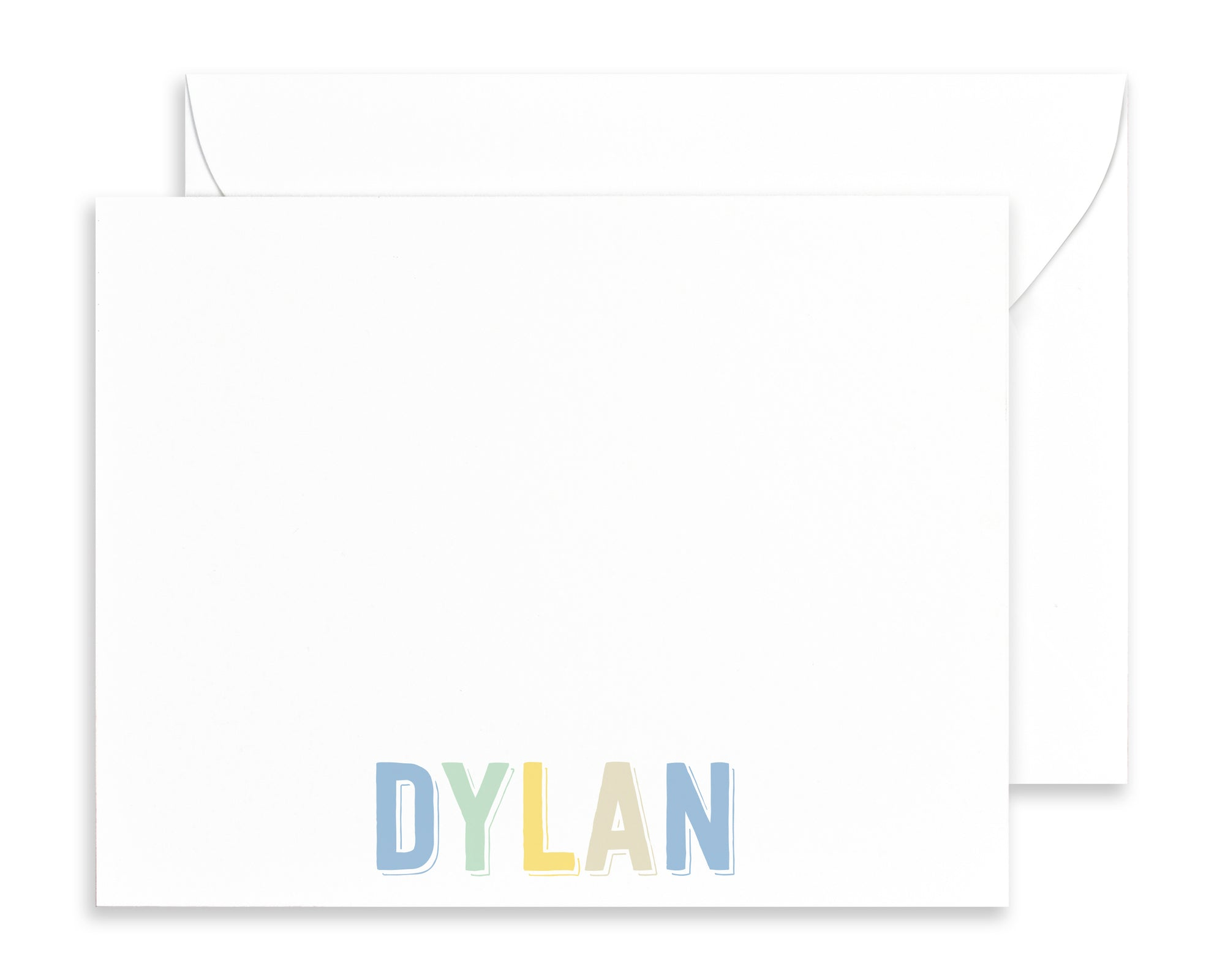 Boys Personalized Rainbow Name Stationery for Kids