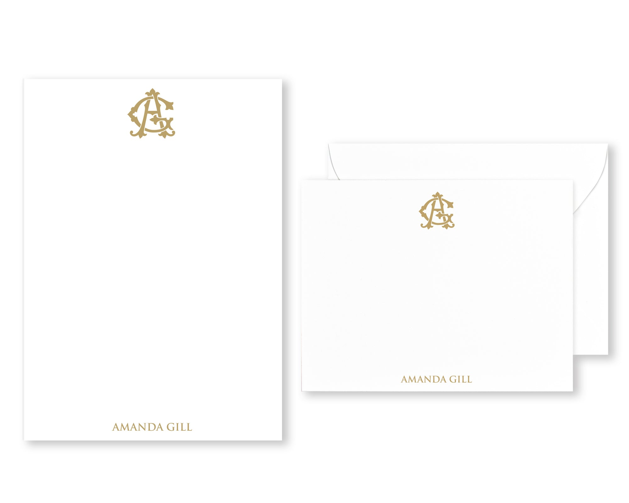 Traditional Monogrammed Stationery Set