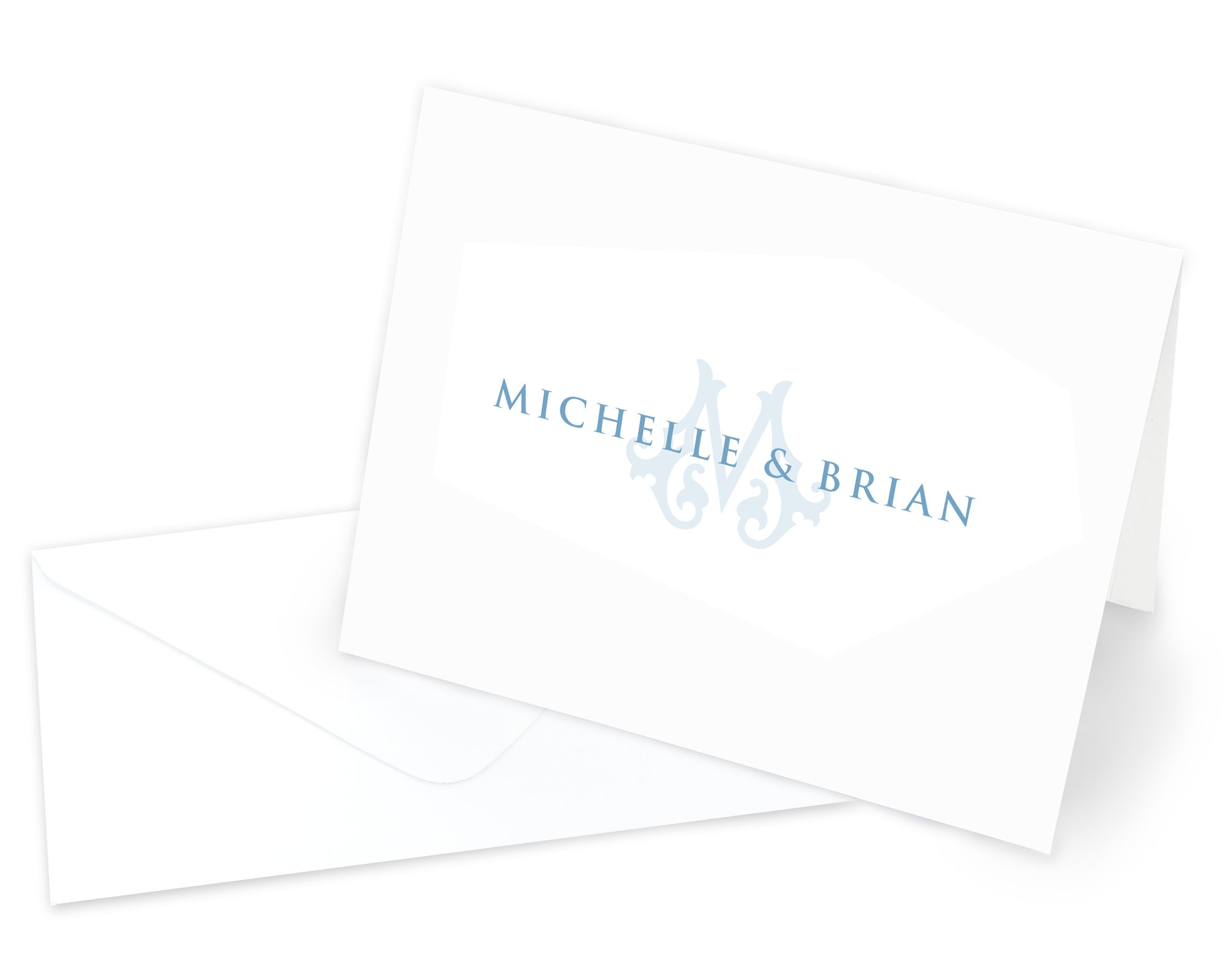Monogrammed Couples Folded Note Cards