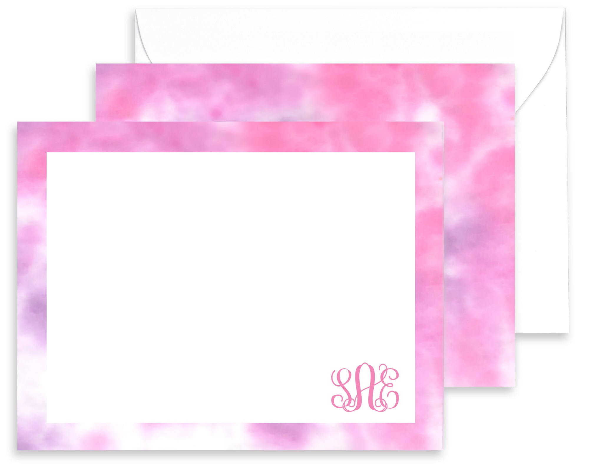 Personalized Purple & Pink Tie Dyed Stationery for Kids