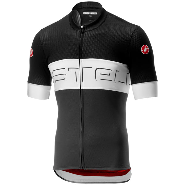 Castelli Mens Prologo 6 Jersey - Black / White