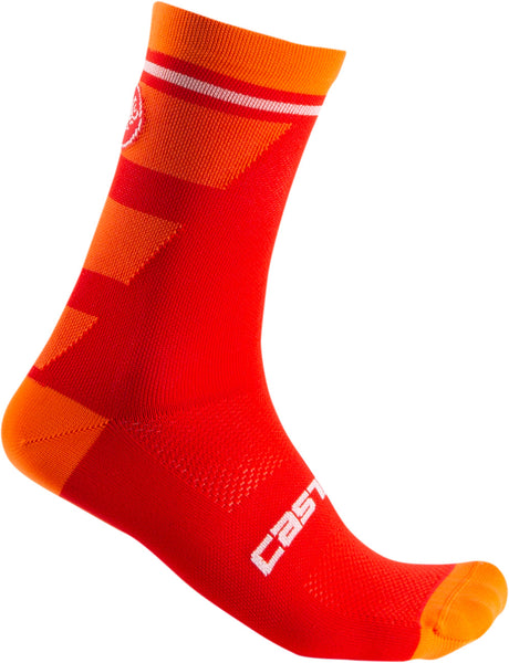 Castelli Mens Trofeo 15 Socks - Red